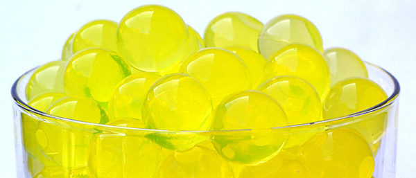yellow water-beads