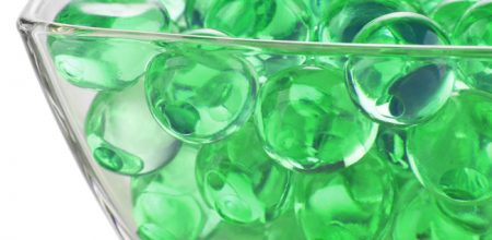 jumbo size water beads in green