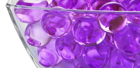giant size water beads purple