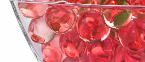 red jumbo water beads aka giant